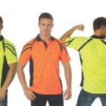 DNC Workwear Cool Breathe Stripe Panel Polo Shirt Short Sleeve