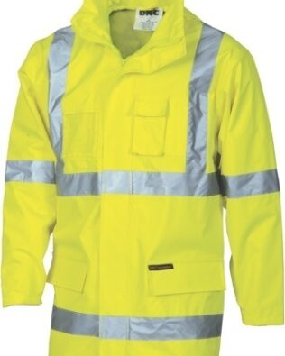 DNC Workwear Hi Vis Cross Back D/N 2 in 1 Rain Jacket