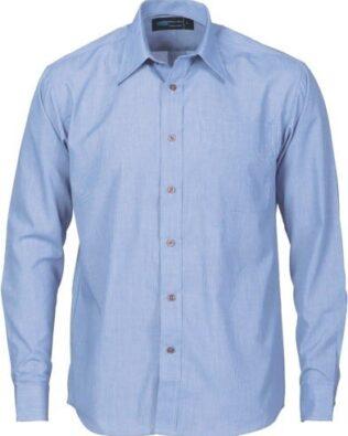 DNC Workwear Classic Mini Check Houndstooth B.Shirt Long Sleeve