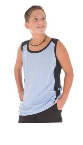 DNC Kidswear Kids Cool-Breathe Contrast Singlet