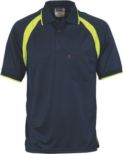DNC Workwear Coolbreathe Contrast Polo Short Sleeve