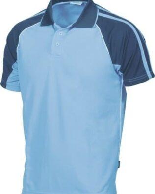 DNC Workwear Contrast Raglan Polo