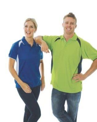 DNC Workwear Contrast Raglan Mesh Polo Short Sleeve
