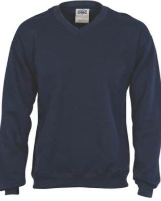 DNC Sportswear V-Neck Fleecy Sweatshirt