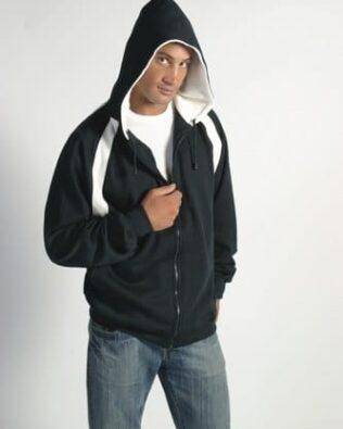 DNC Sportswear Mens Contrast Panel Fleecy Top with Hood