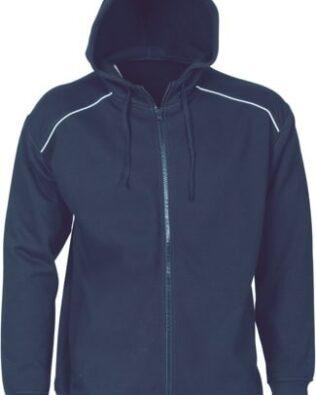 DNC Sportswear Mens Contast Piping Fleecy Hoodie