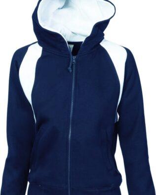 DNC Sportswear Ladies Contrast Panel Fleecy Top with Hood
