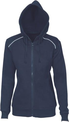 DNC Sportswear Ladies Contast Piping Fleecy Hoodie