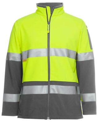 JBs Workwear Hi Vis (D+N) Softshell Jacket