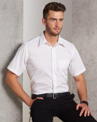 Winning Spirit Mens Telfon Executive Short Sleeve Shirt