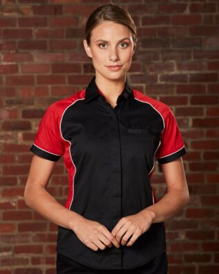 AIW Workwear Womens Arena Tri-Colour Contrast Shirt