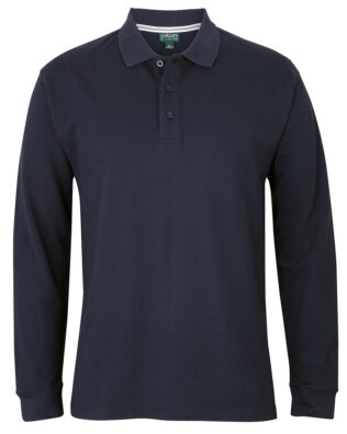 Colours of Cotton Long Sleeve Pique Polo