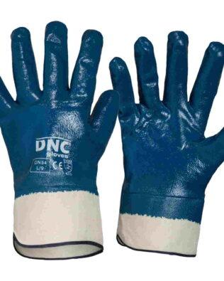 DNC Blue Nitrile Full Dip with Canvas Cuff
