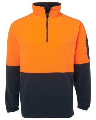 JBs Workwear Hi Vis 1/2 Zip Polar Fleece