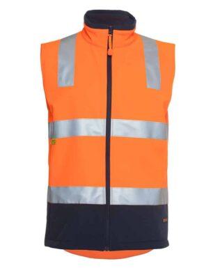 JBs Workwear Hi Vis (D+N) Softshell Vest