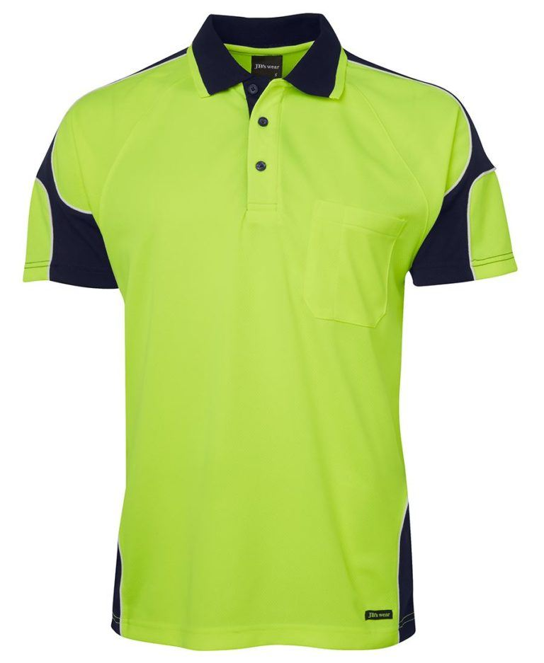 JBs Workwear Hi Vis Short Sleeve Arm Panel Polo