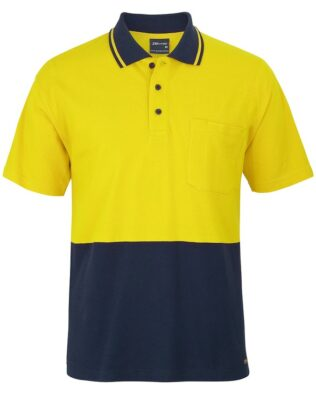 JBs Workwear Hi Vis Short Sleeve Cotton Pique Trad Polo