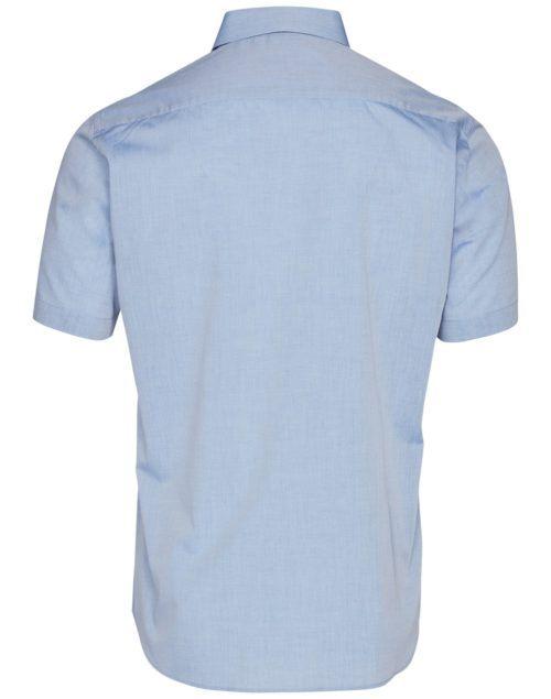 Benchmark Mens Fine Chambray Short Sleeve Shirt