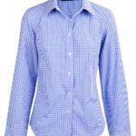 Benchmark Ladies Multi-Tone Check Long Sleeve Shirt