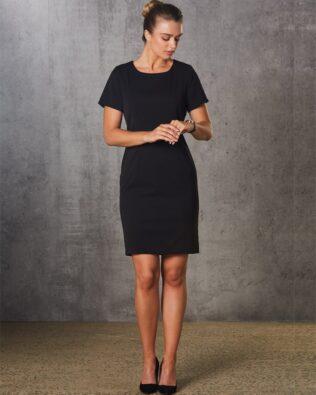 Benchmark Ladies Poly Viscose Stretch Short Sleeve Dress