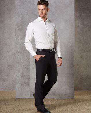 Benchmark Mens Wool Blend Stretch Pants