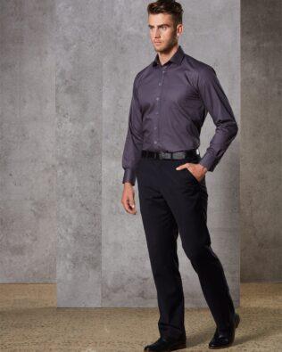 Benchmark Mens Wool Blend Stretch Flexi Waist Pants