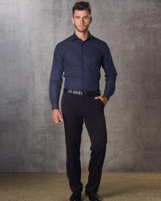 Benchmark Mens Poly Viscose Stretch Flexi Waist Pants
