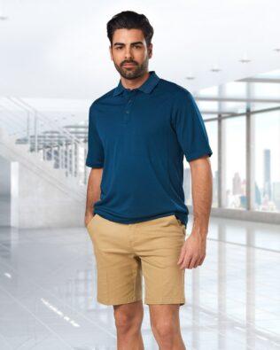 Benchmark Mens Stretch Slimfit Boston Chino Shorts