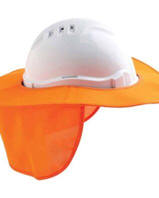 DNC Detachable hard hat brim with flap