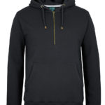 Colours of Cotton 1/2 Brass Zip Hoodie