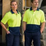 AIW Workwear High Visibility Cooldry Short Sleeve Polo