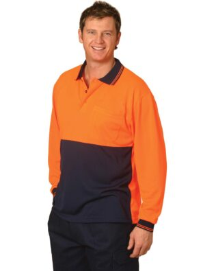 AIW Workwear High Visibility Truedry Long Sleeve Polo