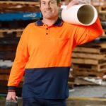 AIW Workwear High Visibility Cooldry Long Sleeve Polo