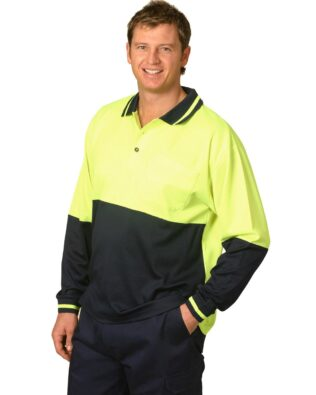 AIW Workwear Long Sleeve Safety Polo