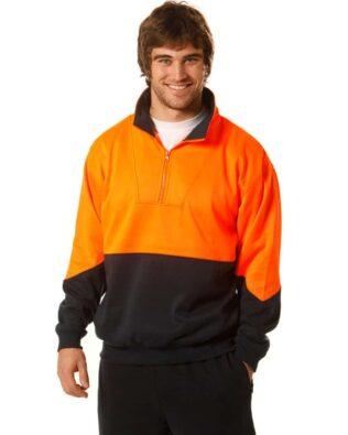 AIW Workwear Hi-Vis Long Sleeve Fleece Sweat
