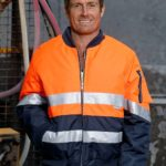 AIW Workwear Hi-Vis Two Tone Flying Jacket with 3M Tapes
