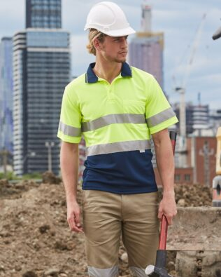 AIW Workwear Short Sleeve Safety Polo with 3M Tape