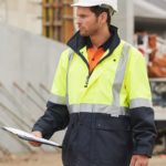AIW Workwear Hi-Vis Safety Jacket With Mesh Lining with 3M Tape