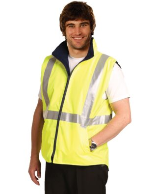 AIW Workwear Hi-Vis Reversible Safety Vest with 3M Tape