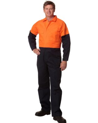 AIW Workwear Mens Two Tone Coverall Stout Size