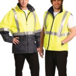 AIW Workwear Hi-Vis Three in One Safety Jacket with 3M Tapes
