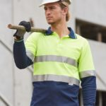 AIW Workwear Long Sleeve Safety Polo with 3M Tape