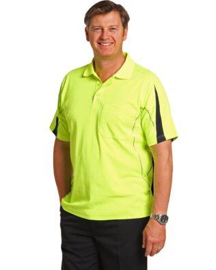 AIW Workwear Mens Hi-Vis Legend Short Sleeve Polo