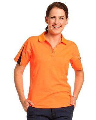 AIW Workwear Ladies Hi-Vis Legend Short Sleeve Polo
