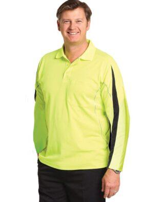 AIW Workwear Mens Hi-Vis Legend Long Sleeve Polo