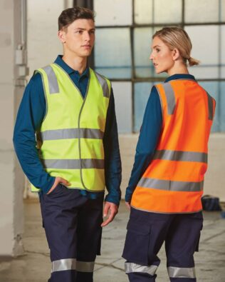 AIW Workwear Safety Vest with Shoulder Tapes