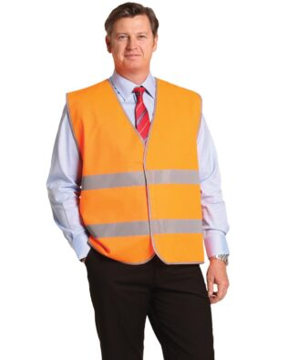 AIW Workwear Hi-Vis Safety Vest with Reflective Tapes
