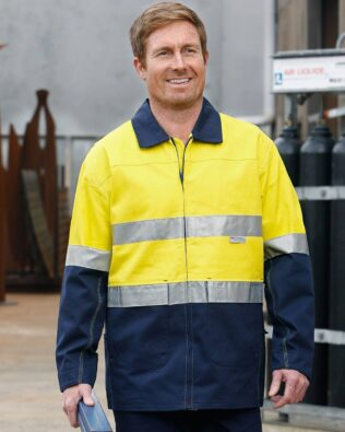 AIW Workwear Hi-Vis Cotton Jacket With 3M Tapes