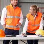 AIW Workwear Hi-Vis Reversible Safety Vest with Mandarine Collar