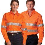 AIW Workwear Unisex Cotton Drill Safety Shirt